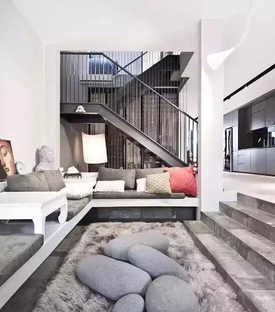 别墅下沉式客厅设计,不负岁月静好图片