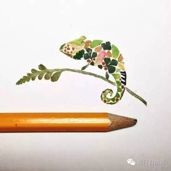 子沙龙之树叶拼贴画