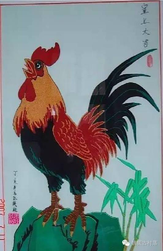 钱玉江和他的 线贴画