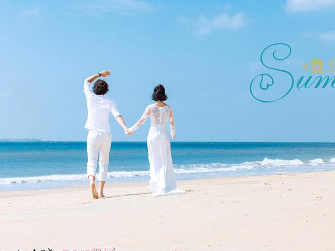 北海拍海景婚纱照选什么样服装合适图片
