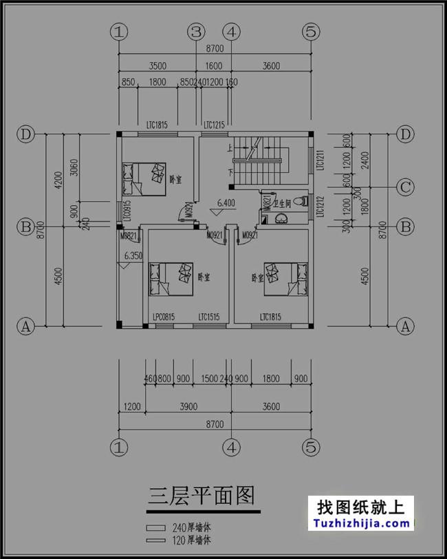 90平米复古四层图纸v图纸内涵房屋效果图山西天舍建筑设计有限公司图片