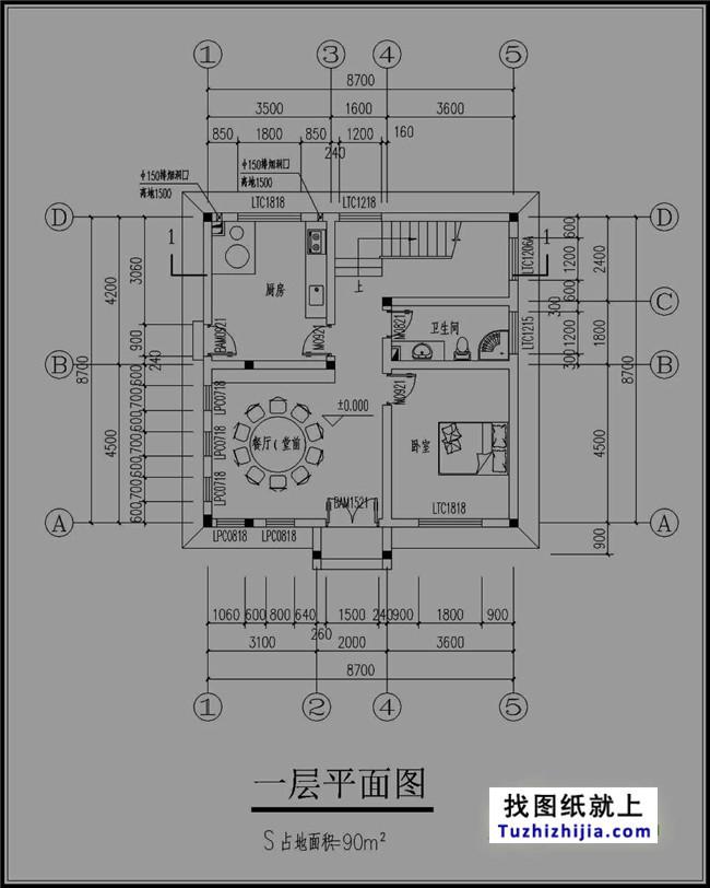 90平米复古四层房屋v房屋图纸费用效果图平面设计内涵价目表图片