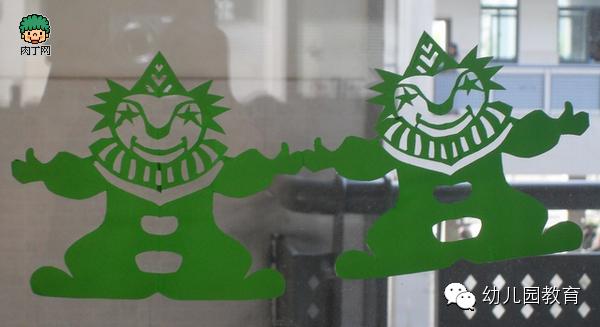 儿童手工制作:新年剪纸 对称剪纸图案       手工制作押花元旦贺卡的