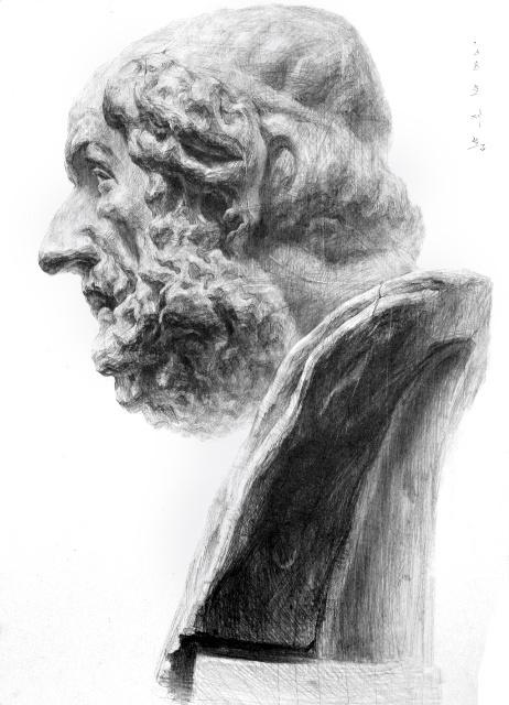石膏像素描绘画步骤 从零基础学素描图片