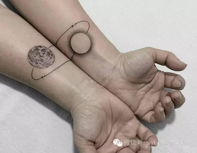 纹身|黑白星球