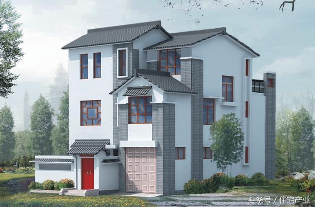 新中式农村别墅10米x15米