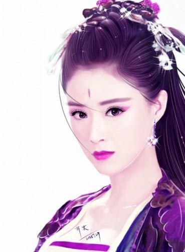 古装人物手绘:赵丽颖,刘诗诗