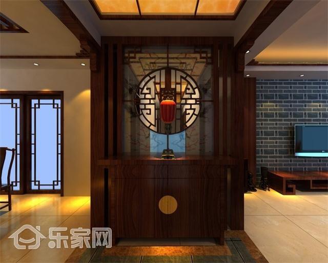 新中式装扮,这样的玄关鞋柜非你莫属,高端大气上档次!图片