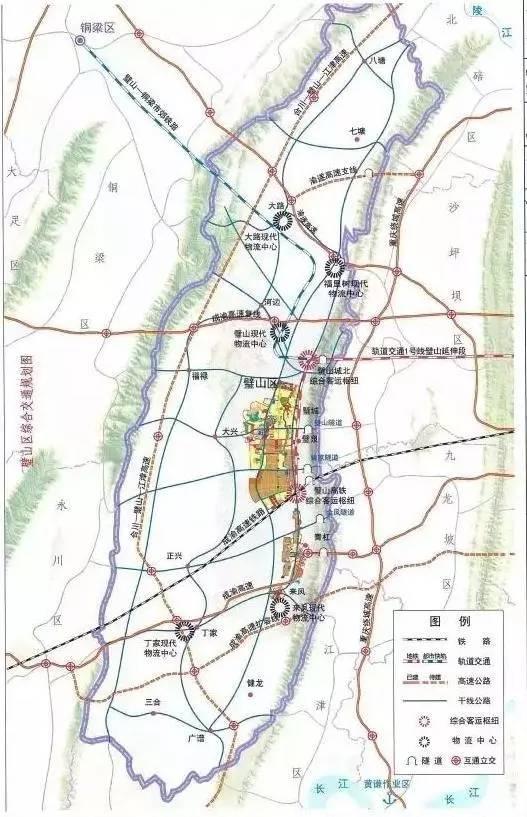 合璧津高速祥细路线图-你住在重庆哪个区 来看看2017年都有哪些好事