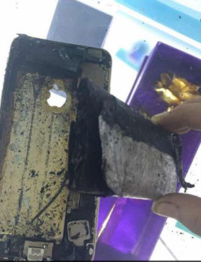 苹果手机突发自燃 苹果回复:爆炸是外部原因造成 不予理赔
