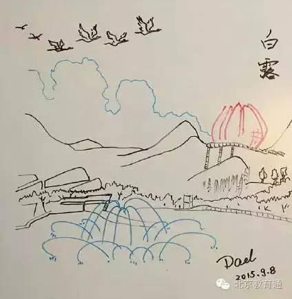"""妈为女儿画出""""24节气""""-在没有雪的 大雪 ,一首诗 一幅画让孩子记"""