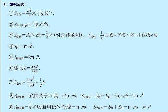 期末送给:孩子公式必背初中大全!必备数学啦!综合自我评价活动初中生实践图片