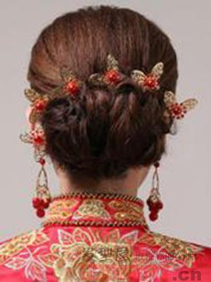禾服新娘发型 秀禾服新娘造型图片图片