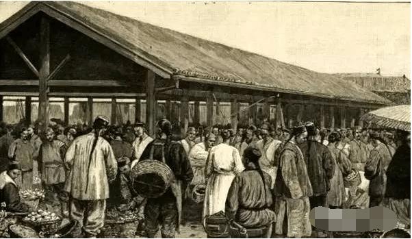 清朝热闹的集市