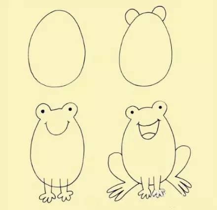 方高能 熊孩子的简笔画P成现实是什么样