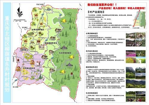 东升村规划图(局部) (北碚区规划分局供图)