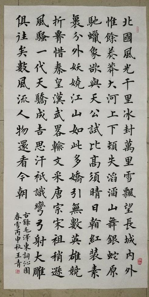 无书法基础,陪女儿学书画未成,他迷上卢中南书法图片
