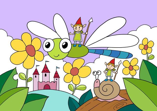 曲洲老师画卡通:儿童画教程——蜻蜓守护者