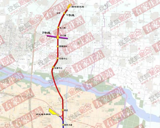重磅!石家庄地铁1号线3号线新建13站 3年通正定新区4年通高新区图片