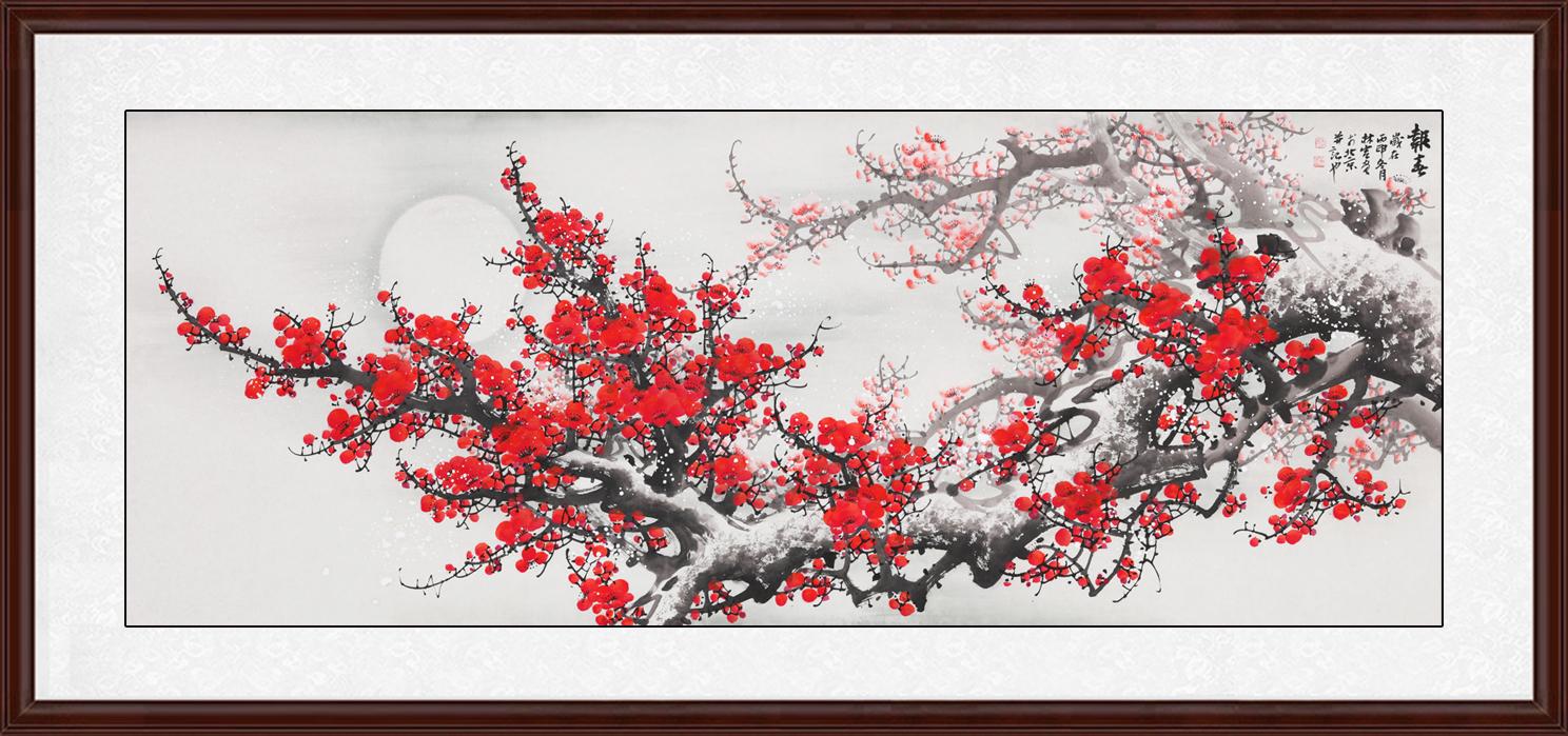 图》作品出自:易从网-家庭装饰画哪种好看 非颜色亮丽的花鸟画莫属