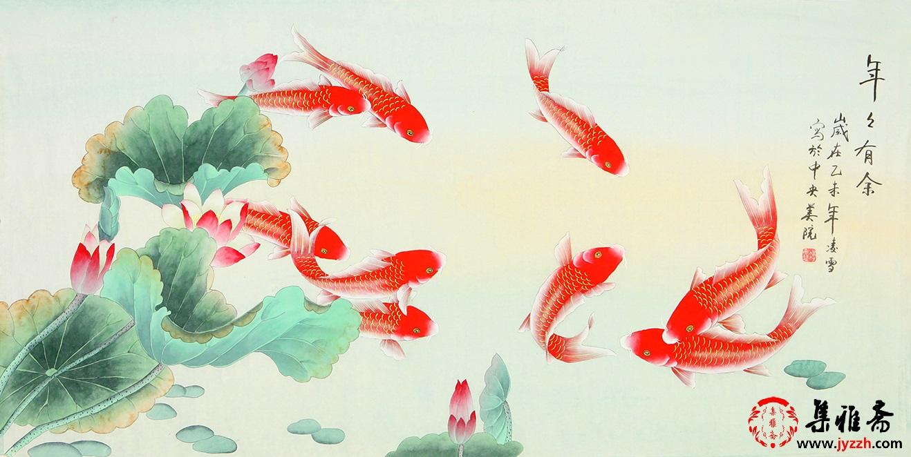 哪位画家擅长画年年有余九鱼图 名家九鱼图欣赏