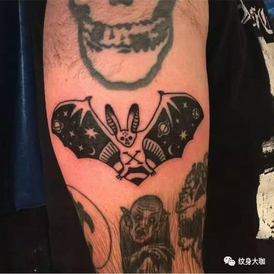 纹身素材:蝙蝠
