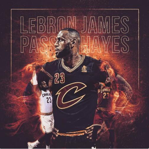 纪录詹!詹姆斯NBA历史得分榜上升至第9位