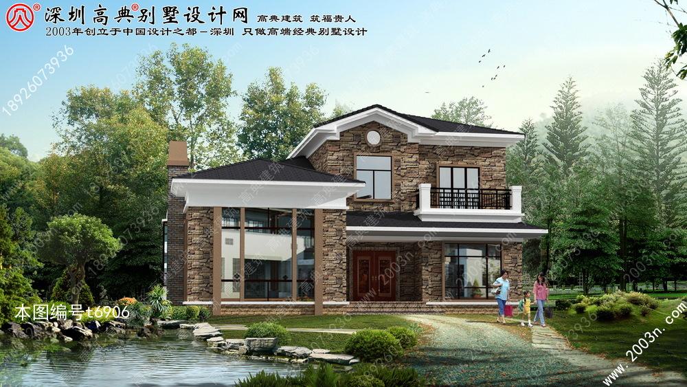 农村两层别墅设计图首层169平方米