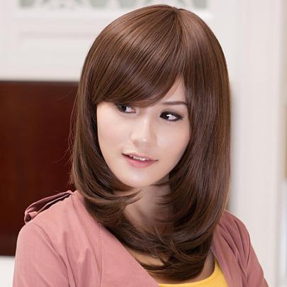适合大脸妹纸的发型,最后一款迪拜公主喜欢哦!图片
