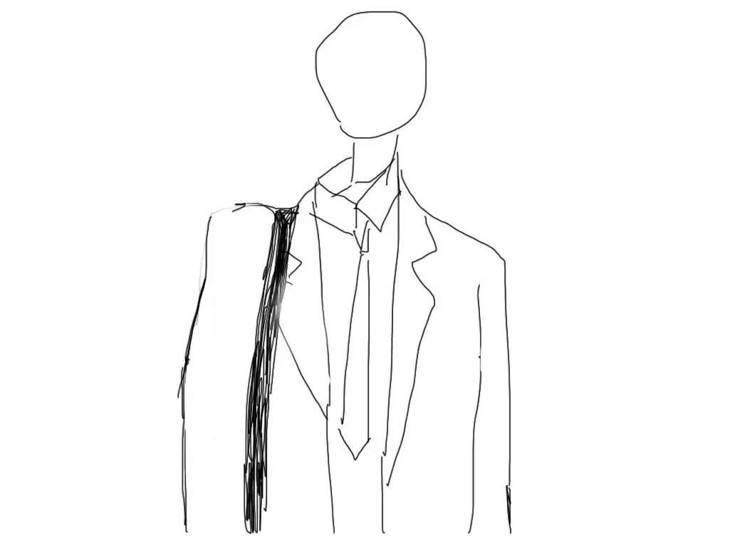 v型裤子手绘款式图