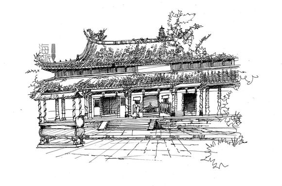 手绘清朝宫装嫔妃图