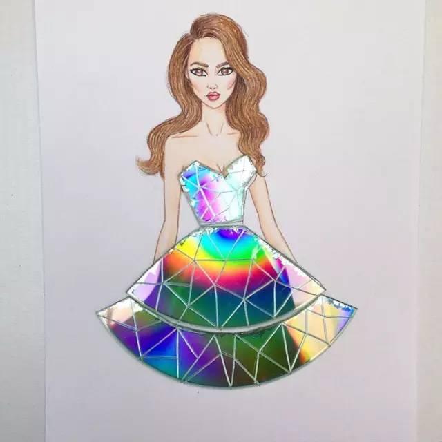 裙子简笔画 他每天为姑娘做一条花裙子,惊艳了时尚圈 展览新闻 闻韶
