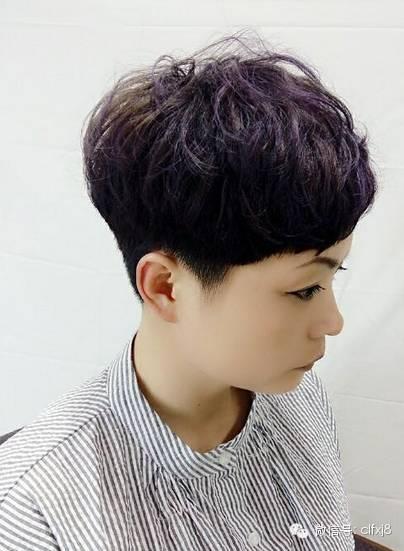 """发型欣赏——今年排名 30款 短发""""烫""""纹理图片"""
