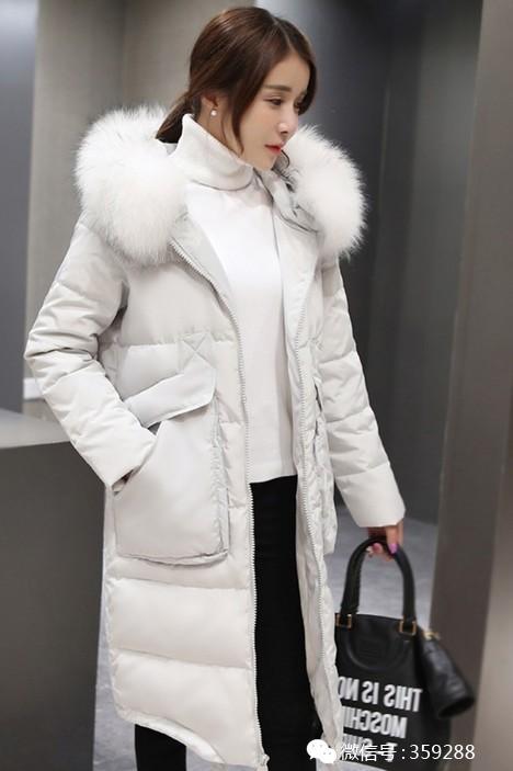 奢华大毛领修身韩版加厚中长款羽绒服女5v1adc电源图片