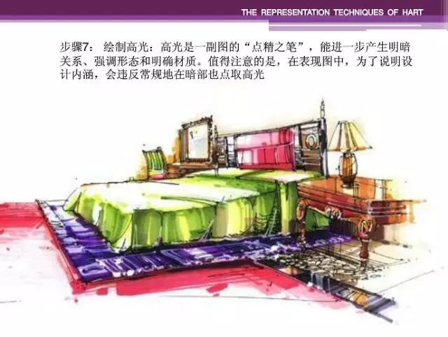 天津室内设计培训手绘表现技法上色步骤