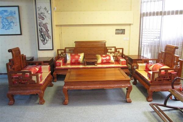 红木沙发客厅
