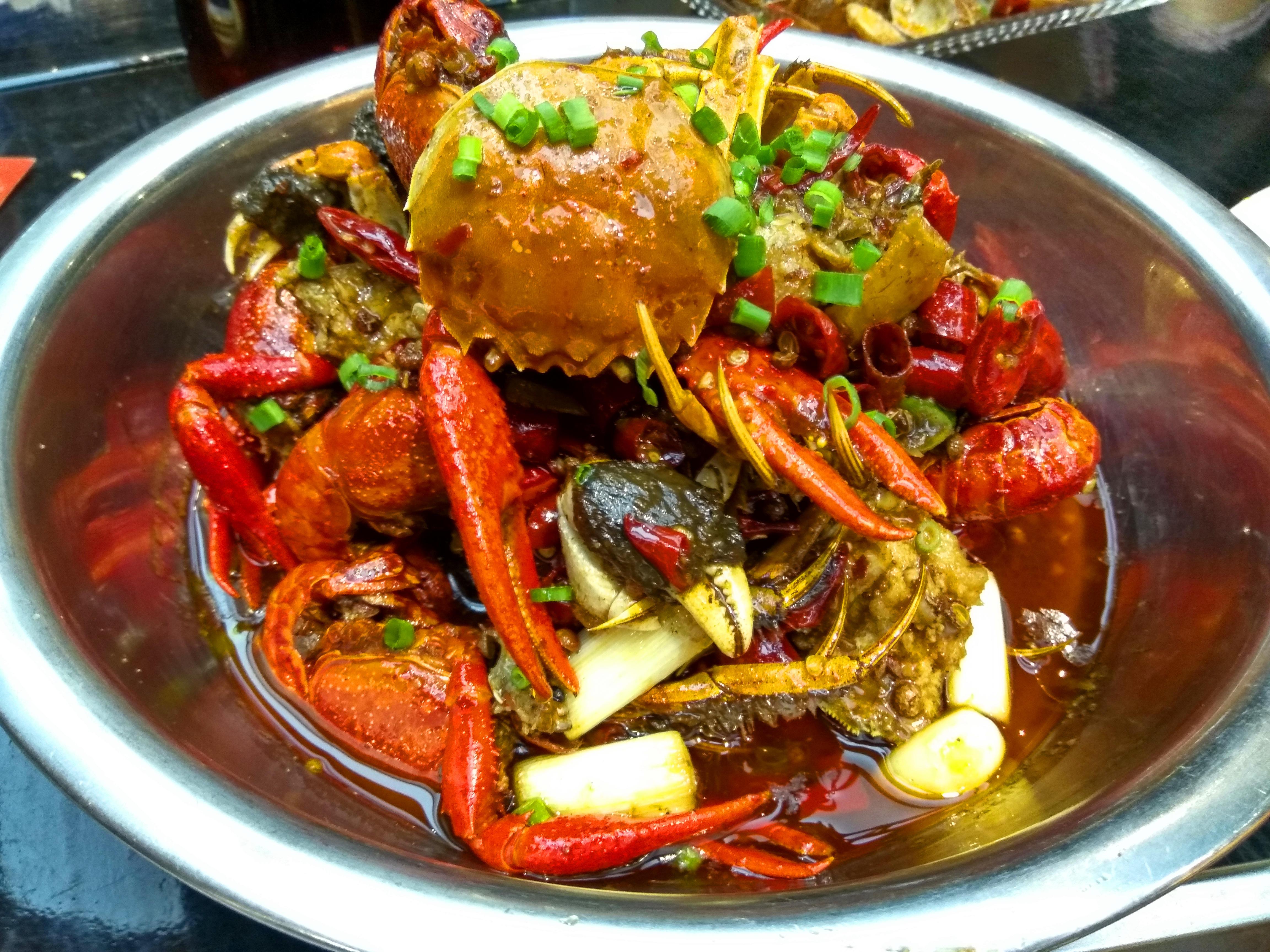虾兵蟹将有一点咸鲜味,蟹肉也是鲜嫩无比.食品filetype图片