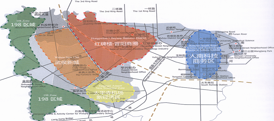 武侯新城规划图