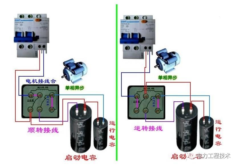 """容器将""""单相""""交流电分裂为相位 即可改变磁场的旋转方向,电动机图片"""