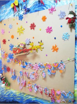 幼儿园圣诞节手工环境装饰