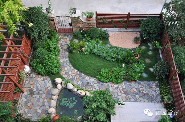别墅花园小鱼池设计图展示图片