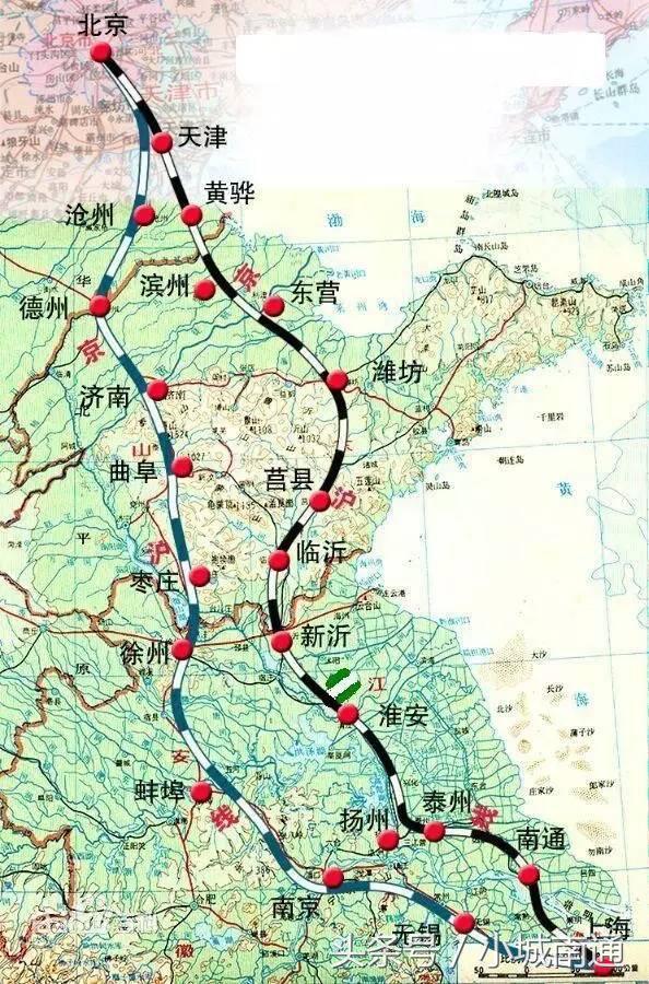 京沪高铁二线规划路线图