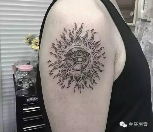 纹身|太阳