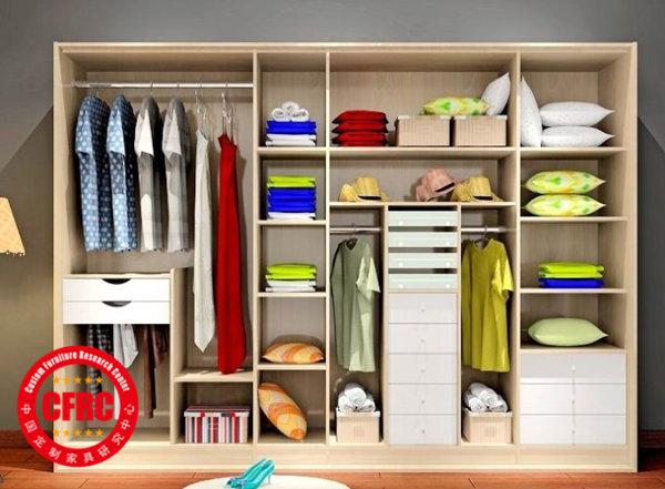 所以不能够有大多的修饰和细节处理,所以板式结构衣柜制作的优点就是图片