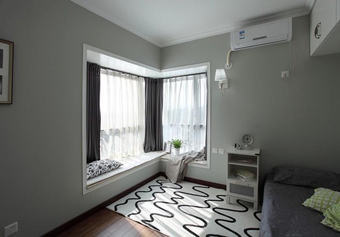 卧室飘窗窗帘装修效果图大全 温馨家居经典案例_房产资讯-南通手机