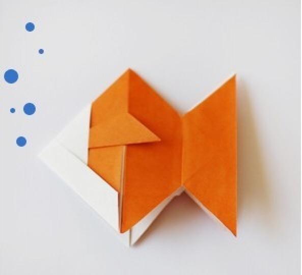 小鱼折纸教程图片