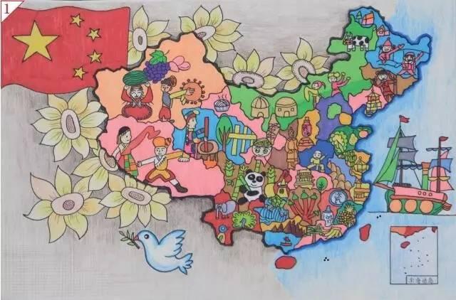 """连江这位小学生喜获""""美丽中国""""第三届少儿手绘地图"""