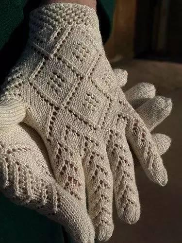 五指手套编织方法