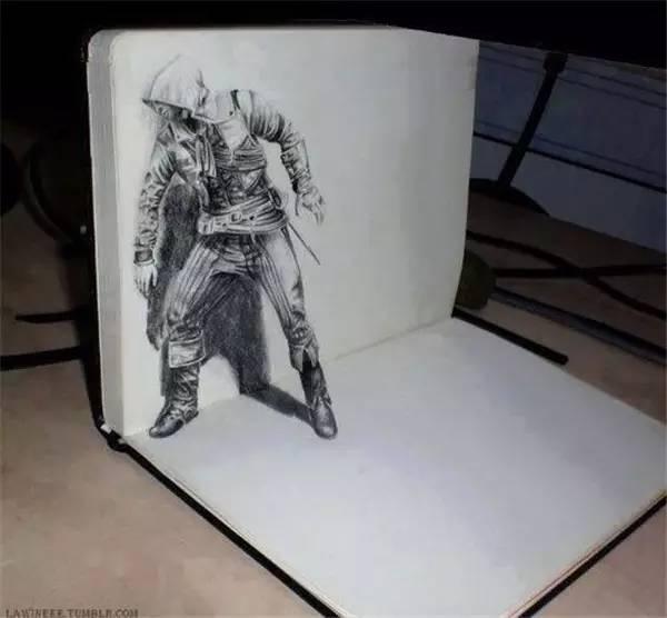 30张非常逼真的3D铅笔画,太牛了图片