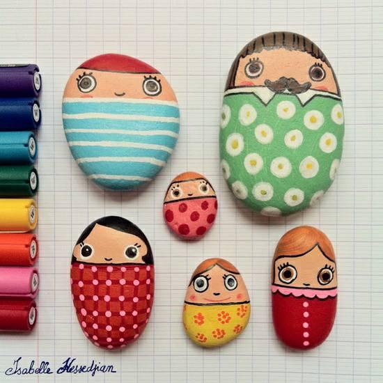 石头画-娃娃军团